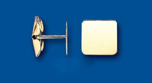 Gold Cufflinks Square Solid Yellow Gold British Made Hallmarked